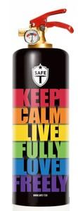 Safe-T ABC-Design-Feuerlöscher 1 kg, Motiv Love Freely