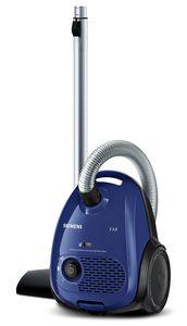Siemens Bodenstaubsauger mit Staubbeutel VSZ2V210, Hygienefilter, Farbe Blau-Metallic