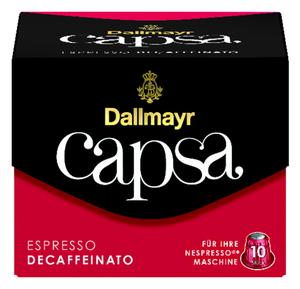 Dallmayr Capsa Espresso Decaffeinato | 10 Nespresso® komp. Kapseln
