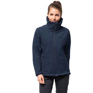 Jack Wolfskin Winddichte Softshelljacke Frauen Rock Valley Women XL blau