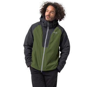 Jack Wolfskin 3-in-1 Hardshell Männer Apex Peak Jacket Men XL grün