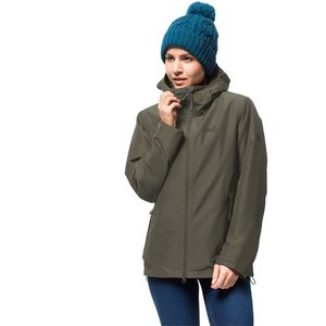 Jack Wolfskin Winter-Hardshell Frauen Chilly Morning Jacket Women XL grün