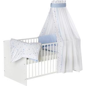 Schardt Kombi-Kinderbett ´´Classic-Line weiß´´, ´´Herzchen hellblau´´