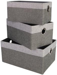 Aufbewahrungskorb - aus Leinen - verschiedene Größen