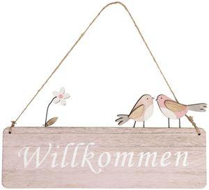 Dekohänger - Willkommen - aus Holz - 27 x 24 cm