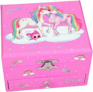 Schmuckkästchen mit Spieluhr- Ylvi & the Minimoos - pink