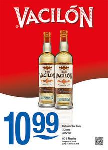 Vacilón Kubanischer Rum 3 Jahre 40% Vol.