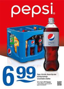 Pepsi, Mirinda, Seven Up oder Schwip Schwap verschiedene Sorten