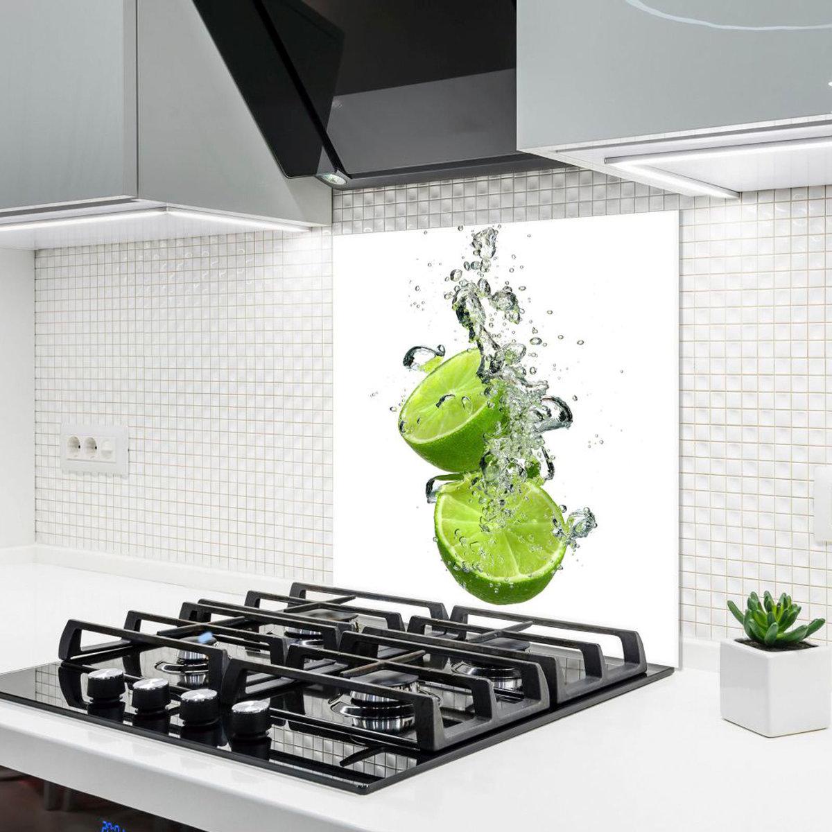 Bild 2 von Küchenrückwand aus Glas - LIMETTE - 60x65 cm