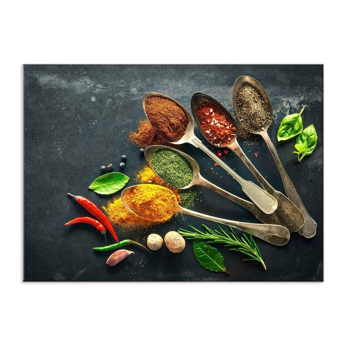 Bild 1 von Küchenrückwand aus Glas - GEWÜRZE - 90x65 cm