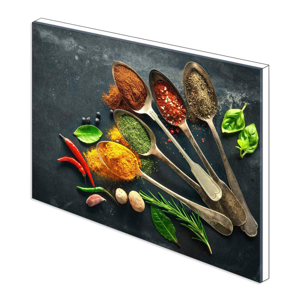Bild 3 von Küchenrückwand aus Glas - GEWÜRZE - 90x65 cm