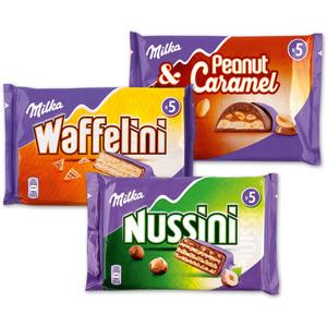 Milka Nussini / Waffelini / Peanut Caramel