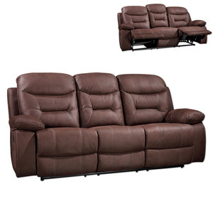 3-Sitzer-Sofa - braun - Relaxfunktion