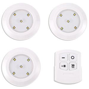 LAMPURA 3er-Set LED-Unterbauleuchten - weiß - Kunststoff