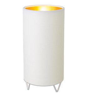 LAMPURA Tischleuchte GOLDI - weiß - Stoff