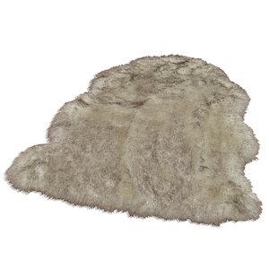 homara Kunstfell - grau-natur - 55x80 cm