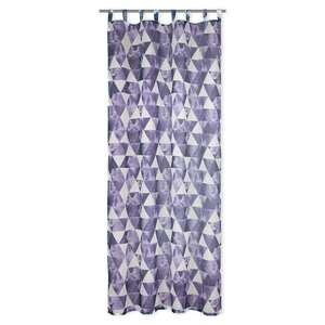Schlaufenschal COSMO - violett-weiß - Dreiecke - 135x245 cm