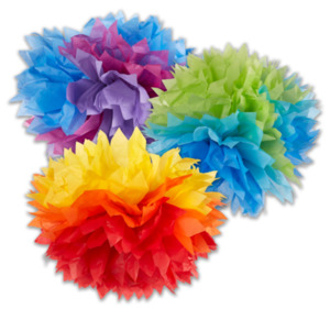 Fluffy-Dekobälle oder Deko-Set Regenbogen