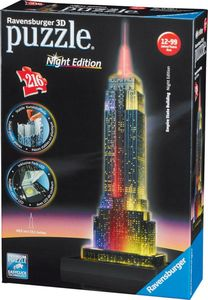 Ravensburger 3D Puzzle Night Edition - Empire State Building Nacht , 216 Teile