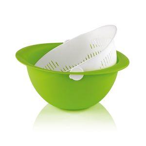 GOURMETmaxx Rotationssieb 2in1 limegreen/weiß
