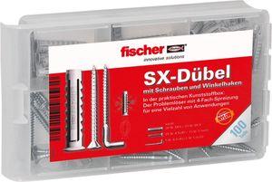 fischer Dübelbox - mit Schrauben und Winkelhaken, 100 Teile