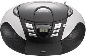 Lenco SCD-37 Tragbares UKW/MW Radio mit CD/MP3 Player, silber