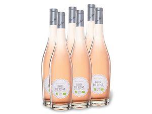 6 x 0,75-l-Flasche BIO Bois de Rose Par Pierre Chavin IGP halbtrocken, Roséwein