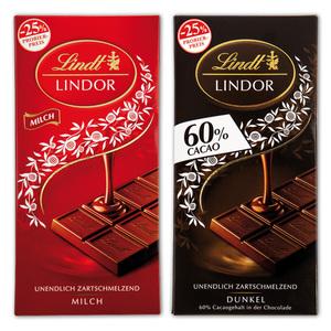 Lindt Lindor Lindor-Tafeln