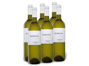 6 x 0,75-l-Flasche Weinpaket Graševina Slavonija Qualitätsweißwein trocken, Weißwein