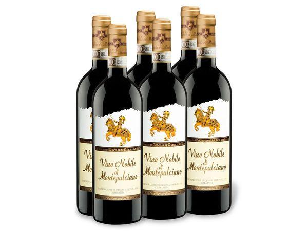 6 x 0,75-l-Flasche Weinpaket Vino Nobile di Montepulciano DOCG trocken, Rotwein