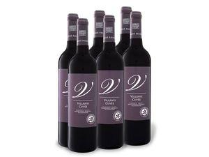 6 x 0,75-l-Flasche Weinpaket Villányi Cuvée trocken, Rotwein