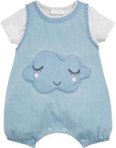 Baby Set Denim-Spieler mit Body Gr. 62/68 Mädchen Baby