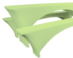 Bierzeltgarnitur, Komfort- Komplett- Set ,  grün, 5- teilig
