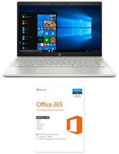 HP Pavilion 14-ce1606ng (5XQ71EA) 35,6 cm (14´´) Notebook silber inkl. Office 365 Personal (FPP)