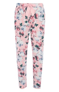 Rosafarbene Pyjamahose mit Blumenmuster