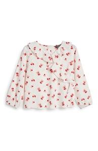 Bluse mit Kirschen (kleine Mädchen)