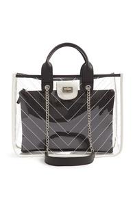 Schwarz-transparente Tasche