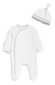 Schlafstrampler u. Mütze für Neugeborene