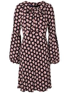 Kleid Smok-Detail an der Schulter Laurèl mehrfarbig