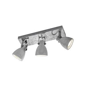 TRIO Retrofit Deckenlampe 3 flg CONCRETE Betongrau