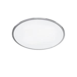 WOFI LED Deckenlampe 40 cm LINOX Silberfarbig