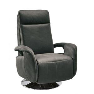 SYSTEMPOLSTER verstellbarer TV Sessel Lederbezug Anthrazit
