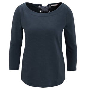 edc             Shirt, 3/4-Arm, Rückenschleife, abgerundeter Saum
