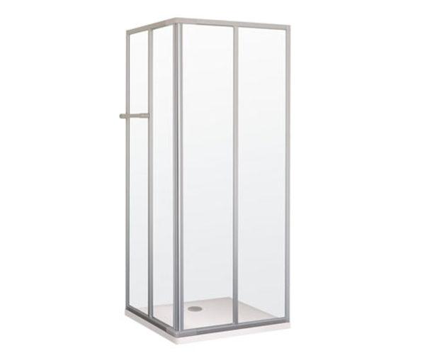 Breuer®-Dusche »Fara-Kretana« – Eckeinstieg, Schiebetür,  80–90 x 80–90 cm