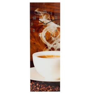 GALERIA SELECTION             Quarz-Wanduhr, Glas, Kaffee-Motiv
