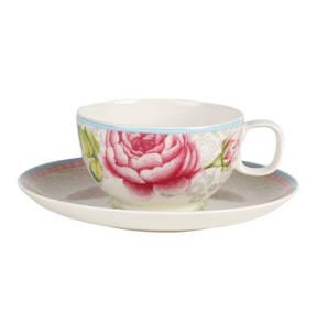 Villeroy & Boch                Rose Cottage                 Teetasse mit Untertasse grau