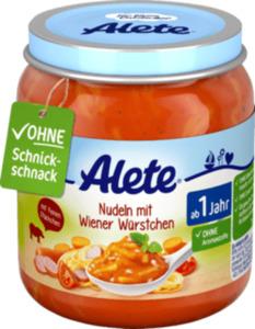 Alete Kindermenü Nudeln mit Wiener Würstchen ab 1 Jahr