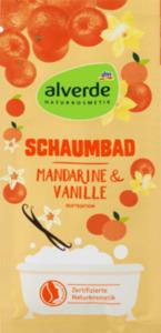 alverde NATURKOSMETIK Schaumbad Mandarine & Vanille