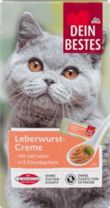 Dein Bestes Snack für Katzen, Leberwurst-Creme mit viel Leber, 8 St