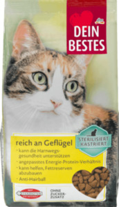 Dein Bestes Sterilisiert-Kastriert Trockenfutter für Katzen, reich an Geflügel